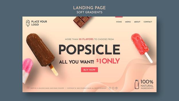 Startpagina van ijs met zachte kleurovergang