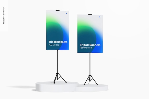Statief banners mockup, perspectief