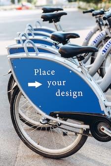 Stazione di noleggio bici da città, modello