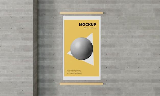 Stedelijke poster grijs beton mock up