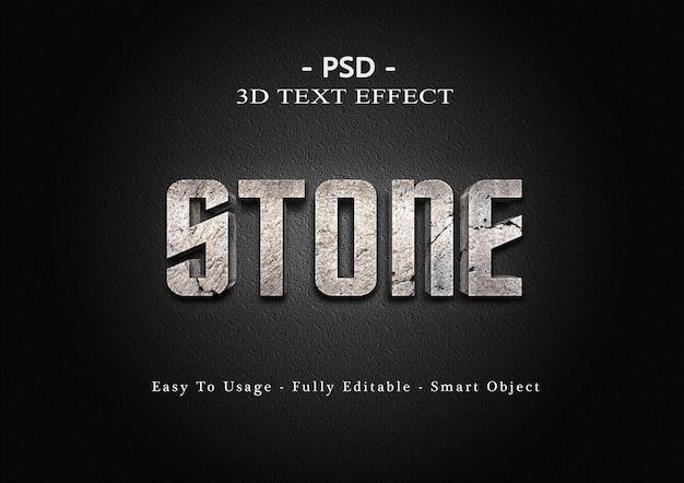 Steen 3d teksteffect sjabloon Premium Psd