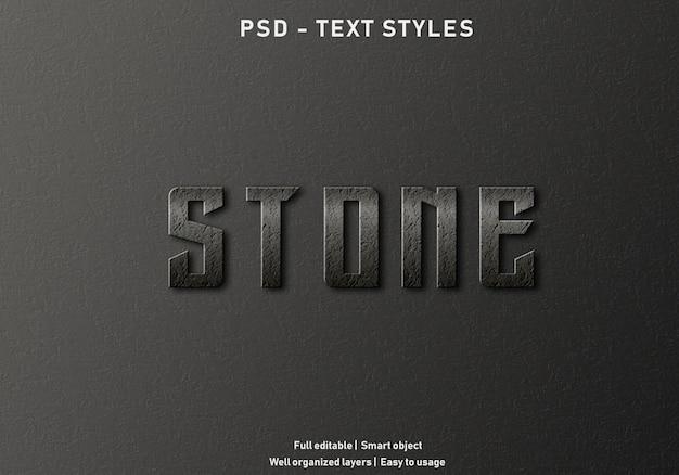 Steen teksteffecten stijl bewerkbare psd