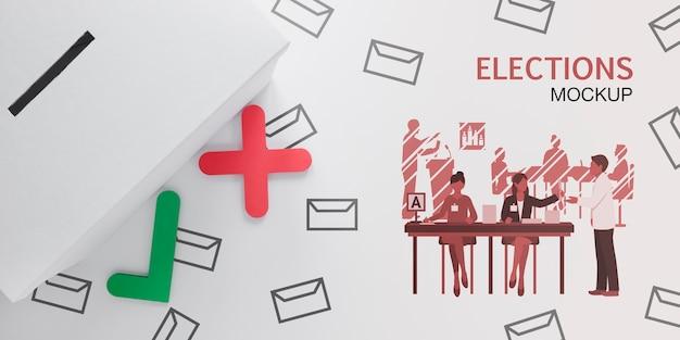 Stemmen voor verkiezingen mock-up