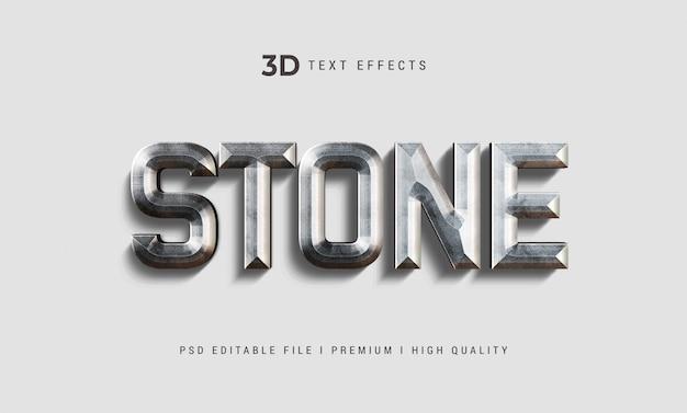 Stenen 3d-tekststijleffect mockup