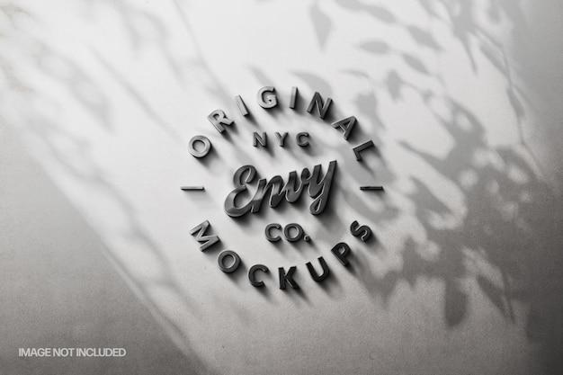 Stenen muur met schaduwoverlay logo mockup