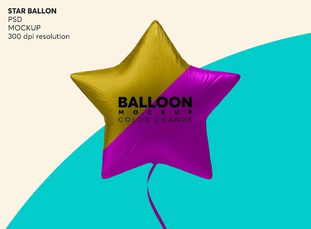 Ster helium ballon mockup geïsoleerd