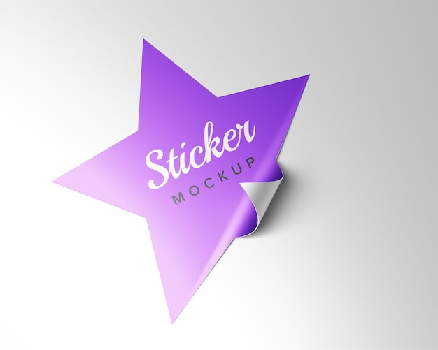 Ster sticker mockup ontwerp