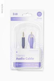 Stereo audiokabelmodel, vooraanzicht