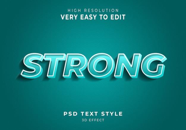 Sterk modern teksteffect
