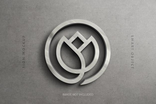Sterling zilveren logo mockup-ontwerp