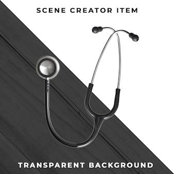 Stetoscopio isolato con il percorso di ritaglio