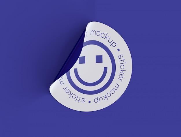 Sticker met zelfklevende sticker