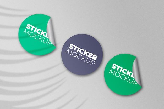Stickersmodel met schaduw