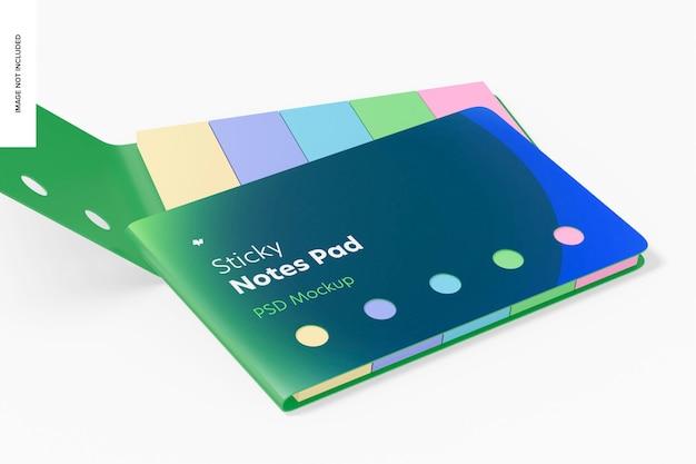 Sticky notes pads mockup, gesloten en geopend