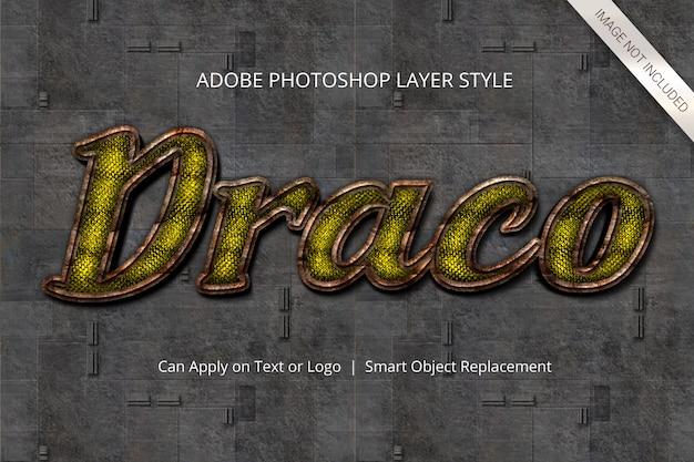 Stijl van de teksteffectlaag van photoshop