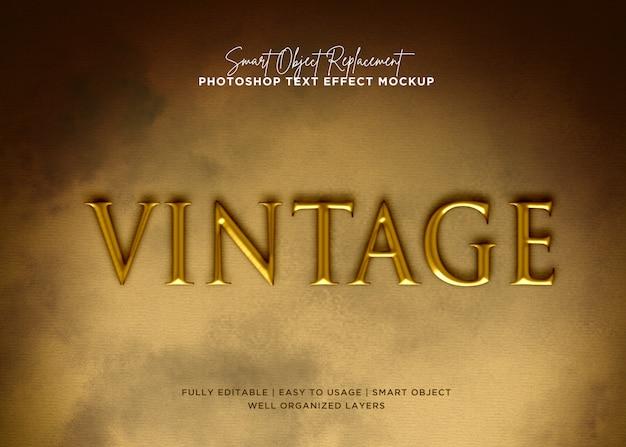 Stijl vintage teksteffect