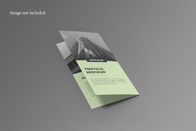 Stijlvolle driebladige brochure mockup