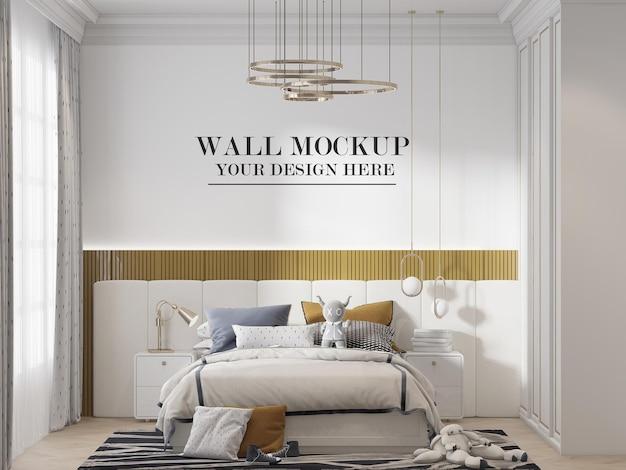 Stijlvolle eigentijdse slaapkamer muur achtergrond