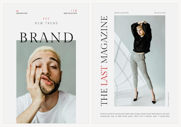 Stijlvolle sjablonen mode psd poster voor beauty en lifestyle