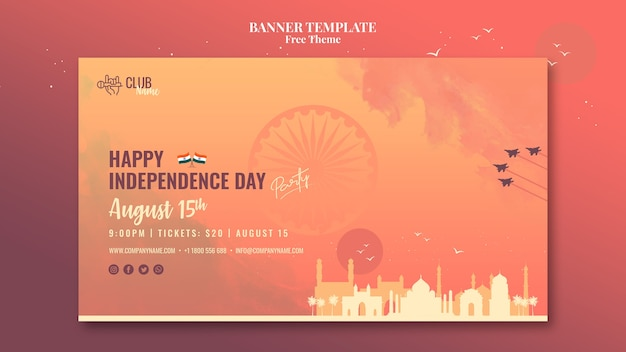 Stile banner festa dell'indipendenza