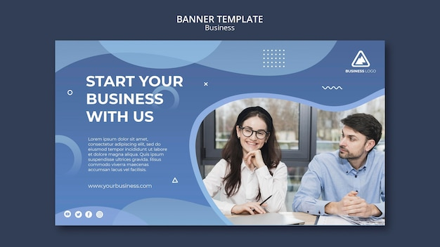 Stile di banner concetto aziendale