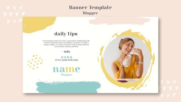Stile di banner concetto di blogger