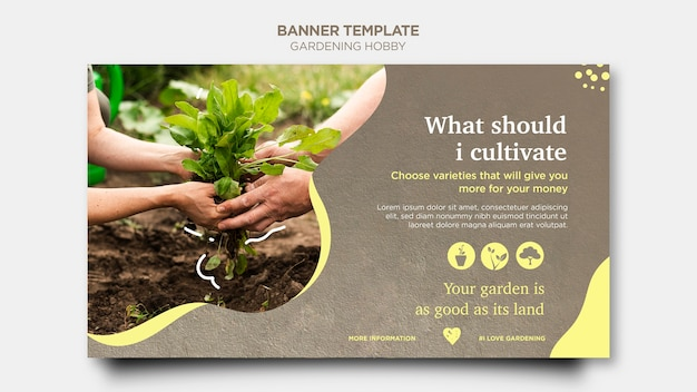 Stile di banner hobby giardinaggio