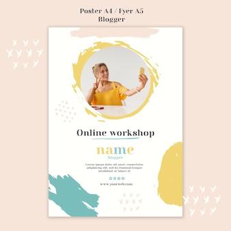 Stile di blogger concept poster