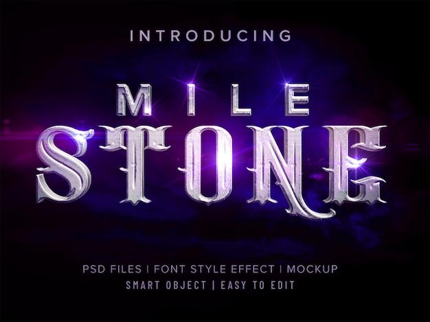 Stile di carattere pietra 3d miglia