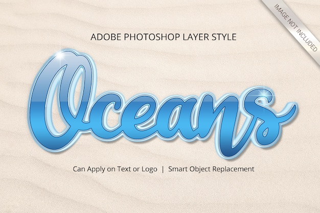 Stile di livello effetto testo di photoshop