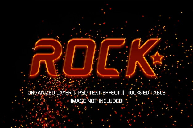 Stile di livello testo rock star