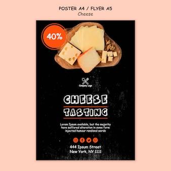 Stile di poster di degustazione di formaggi