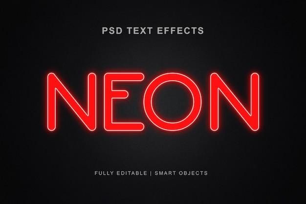 Stile effetto testo al neon