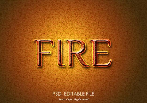 Stile effetto testo fuoco