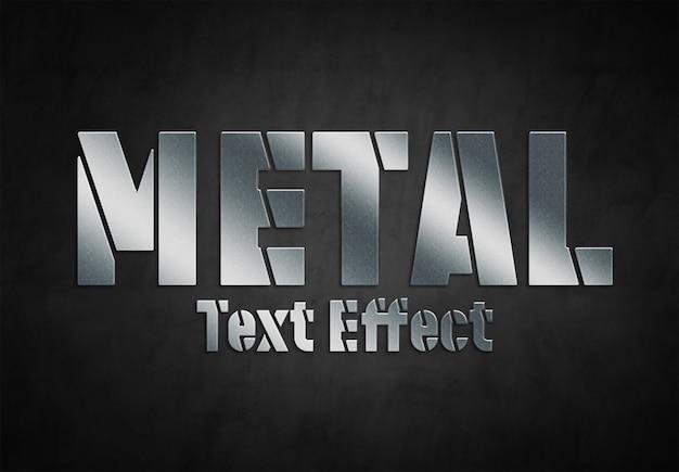 Stile effetto testo in metallo