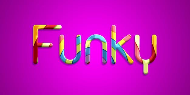 Stile funky effetto stile testo