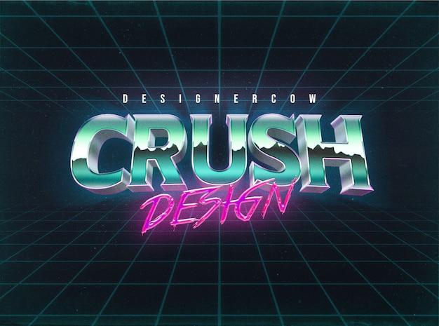 Stile livello effetti testo anni '80