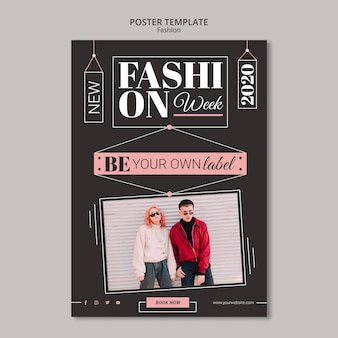 Stile poster concetto di moda