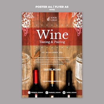 Stile poster di degustazione di vini