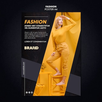 Stile poster di moda