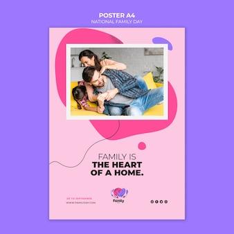 Stile poster nazionale giorno della famiglia