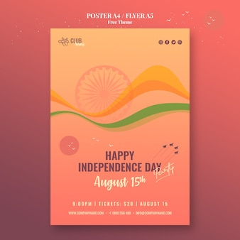 Stile poster per il giorno dell'indipendenza
