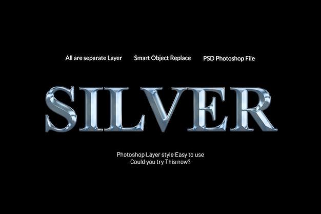 Stile testo argento