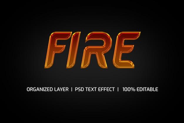 Stile testo fuoco