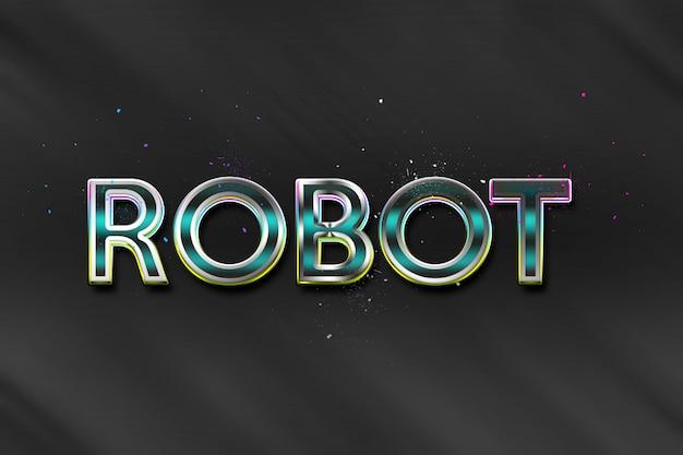 Stile testo robot
