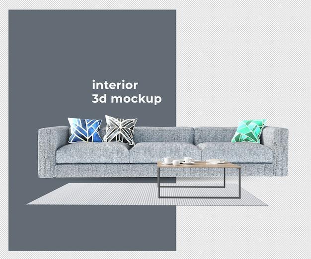 Stoel sofa interieur 3d mockup