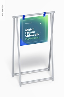 Stoepbord, metalen framebord