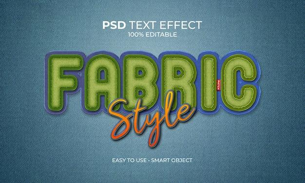 Stof stijl patch tekst effect