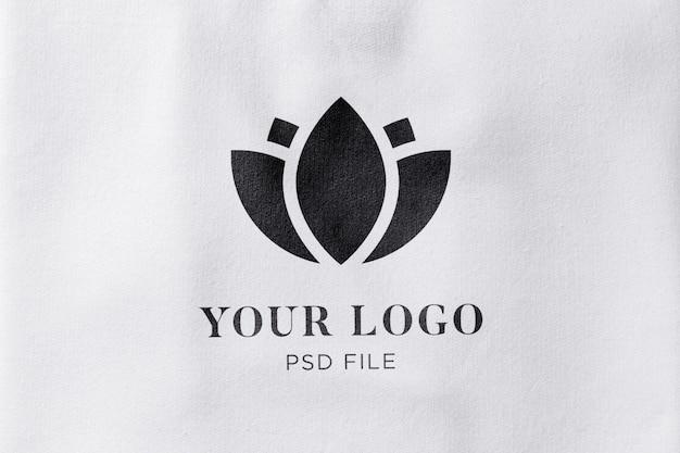 Stof textuur effect logo mockup