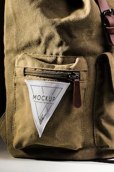 Stoffen kleding patchmodel op rugzak